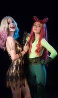 Harley Quinn and Poison Ivy by QuinzelCosplay