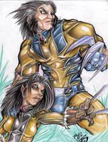 Wolverine + X-23:  Sensei by SavageMouse