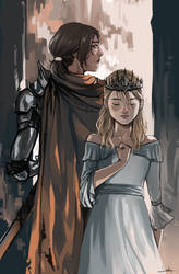 Queen and her Knight by lesly-oh