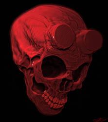 Hellboy skull by cinemamind