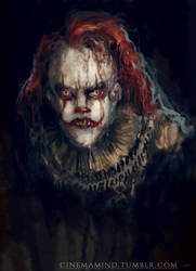 Disgruntled Pennywise by cinemamind