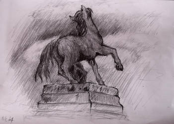 the horse statue by Kilik96
