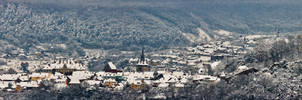 Sighisoara on Snow by WeNDoR