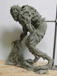 Wolfman Original concept WIP by Blairsculpture