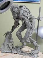 Wolfman WIP by Blairsculpture