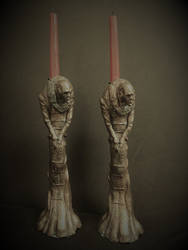 Vampire Candlesticks by Blairsculpture