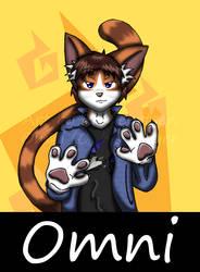 DjOmniFusion Anthrocon Badge by Tekno-Catron