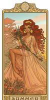 Leetah - Summer: Art Nouveau ElfQuest by MyBeautifulMonsters