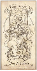 Otto and Victoria Bookplate by MyBeautifulMonsters
