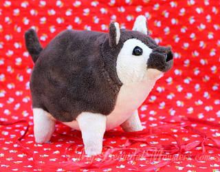 Chubby 'Beach Dog' Plush Toy by MyBeautifulMonsters