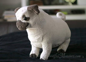 Chubby Pug Plush Toy by MyBeautifulMonsters