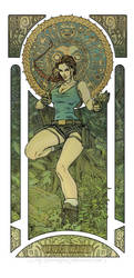 Lara Croft - Art Nouveau by MyBeautifulMonsters