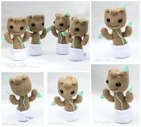 Mini Baby Groot Plush Toys by MyBeautifulMonsters