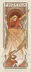 Art Nouveau Phoenix by MyBeautifulMonsters