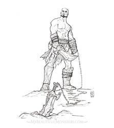 Kratos God of War by MyBeautifulMonsters