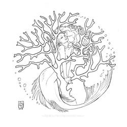Coral Mermaid by MyBeautifulMonsters