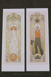 Fifth Element Pair Print MISPRINT DISCOUNT SALE by MyBeautifulMonsters
