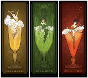 Vintage Drinks Posters by MyBeautifulMonsters