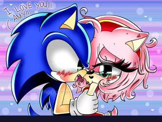Sonic: I LOVE YOU AMY by prittyred