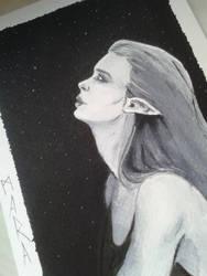 Inktober - Elf by kronikinocnejzmory