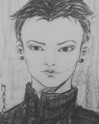 Quick sketch - portrait by kronikinocnejzmory
