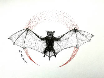 Inktober - Bat by kronikinocnejzmory