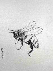 Inktober - Bee by kronikinocnejzmory