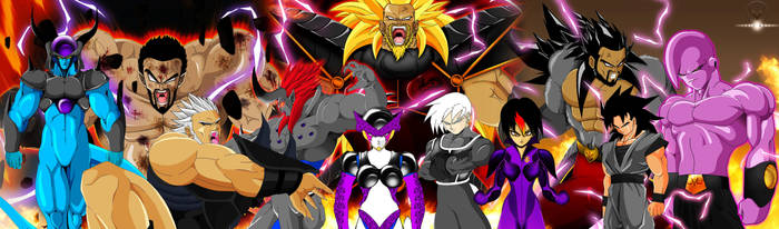 MY DBZ OCs OVER THE YEARS by ERIC-ARTS-inc