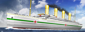 HMHS BRITANNIC LAST OF THE OLYMPIC TRINITY wip by ERIC-ARTS-inc