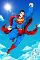 DBZ SUPERMAN commission by ERIC-ARTS-inc