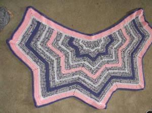 Easter Dragon Wing Shawl by NanetteCrochet