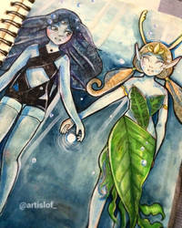 Syduel and Nonades. Ninfas by Artislof