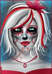Woman Sugar Skull by Romantar