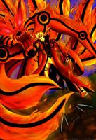 Naruto kurama mode by Wolfbones24