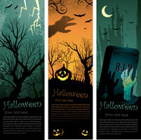 Halloween banners by hugolacasse