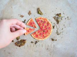 petite pepperoni pizza by FatalPotato