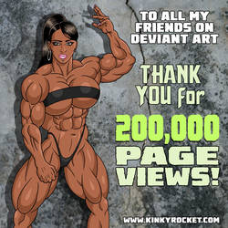 200,000 Page Views! by KinkyRocket