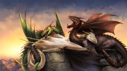 Sleepy Dragons by vesssel