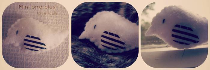 . mini bird plush . by oishicrafts