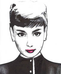 Audrey Hepburn by ObnoxiousTeaCup