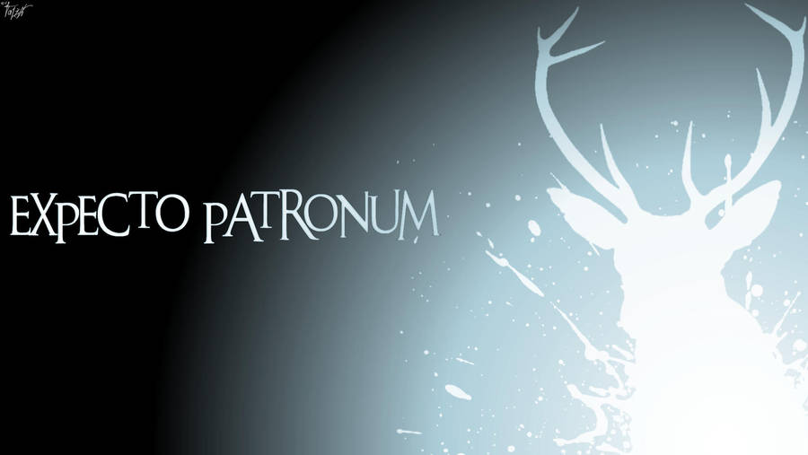 Harry Potter Wallpaper Expecto Patronum Stag By Theladyavatar