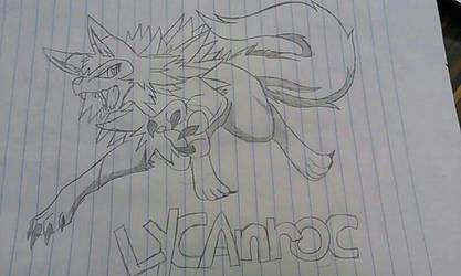 Lycanroc by PikachuGirl234