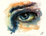 Watercolor eye by Rahmschnitzel
