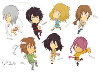 Namida: Chibi-characters by Nami-DA