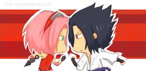 Sakura vs Sasuke by Nami-DA