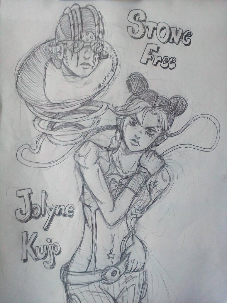 Jolyne and Stone Free by MajinBros
