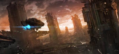 Sci-fi City by nkabuto