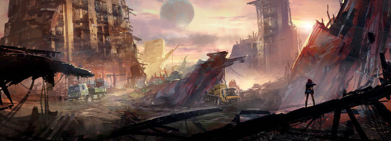 Trash Planet Concept 01 by nkabuto