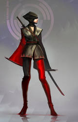 Red Kunoichi by nkabuto