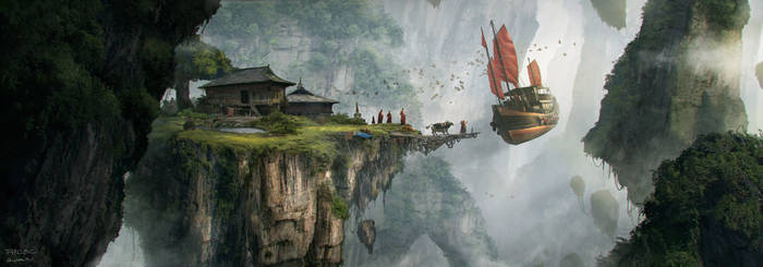 The flying monastery by nkabuto